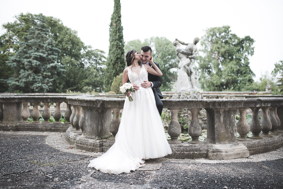 Foto di rito degli sposi